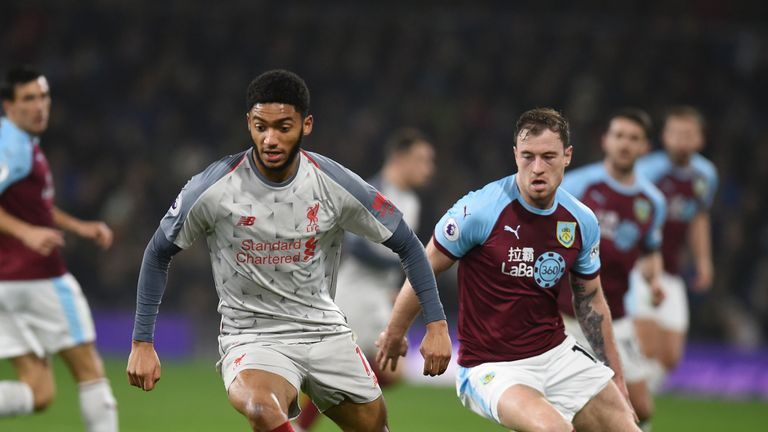 Joe Gomez was forced off with an ankle injury inside 23 minutes