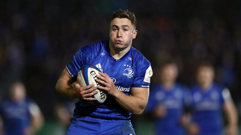 Jordan Larmour was a running threat for Leinster