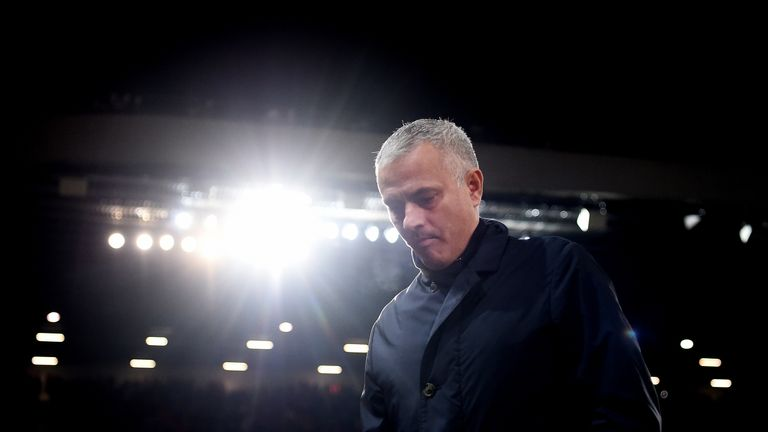 Jose Mourinho during the UEFA Champions League, Group H match between Manchester United and Young Boys at Old Trafford on November 27, 2018