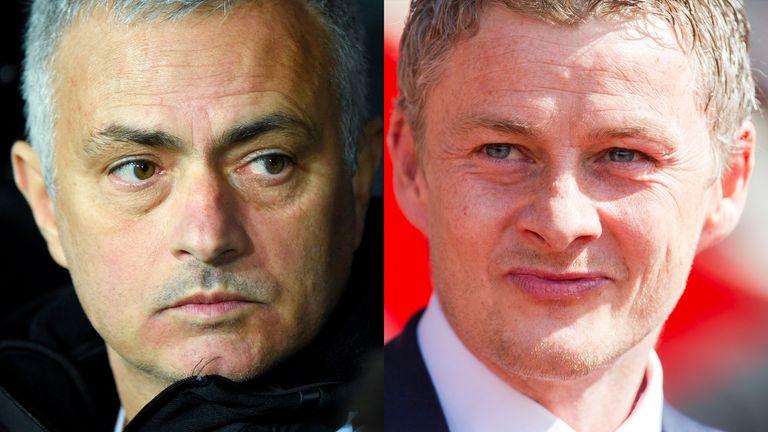 Jose Mourinho and Ole Gunnar Solskjaer