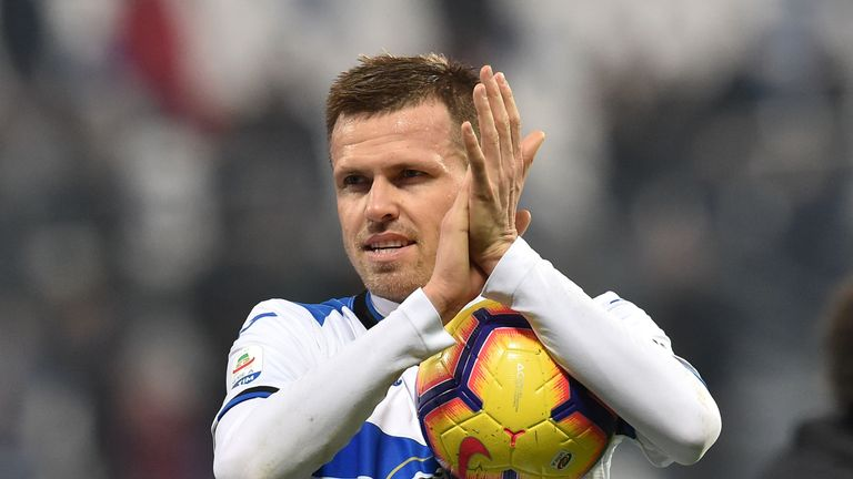 Josip Ilicic had a day to remember as he came off the bench to score a hat-trick