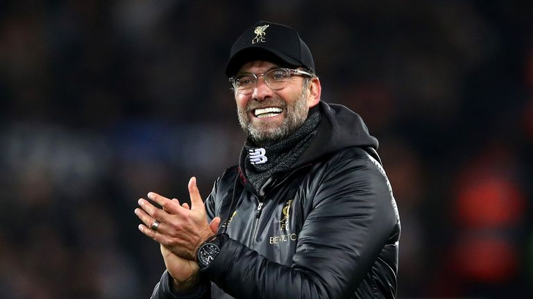 Jurgen Klopp's Liverpool lead the Premier League by four points