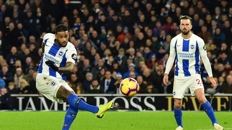 Jurgen Locadia's strike was enough for Brighton to beat Everton