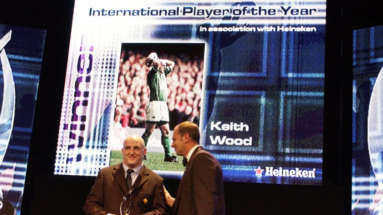 Keith Wood was the inaugural winner of World Rugby's Player of the Year award in 2001
