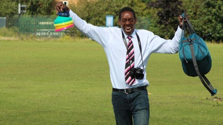 Macharia serves as the Bisons' club photographer