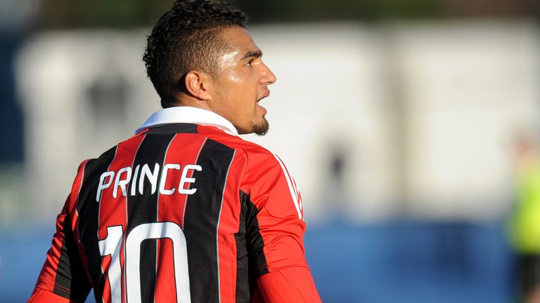 Boateng led his Milan team-mates off after being racially abused against Pro Patria in 2013