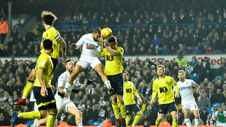 Kemar Roofe scored twice in stoppage time for Leeds