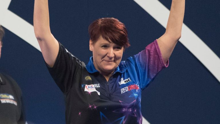 The four-time women's world champion is relishing her latest taste of PDC action