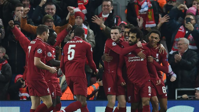 Mohamed Salah scored the crucial goal at Anfield on Tuesday