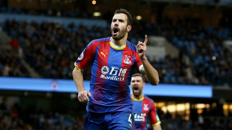 Luka Milivojevic netted palace's third at the Etihad