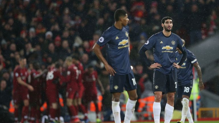 Manchester United were soundly beaten by Liverpool