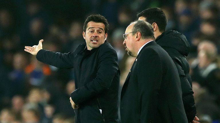 Everton manager Marco Silva takes on his former club at Goodison Park