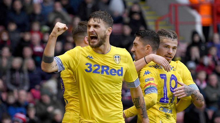 Mateusz Klich celebrates Leeds' winner