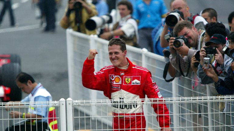 The German became F1's first ever six-time champion after a nervy season-ender in Suzuka. Schumacher had to fight through the field to eighth, and had Ferrari team-mate Barrichello to thank for holding off title rival Raikkonen for the win.