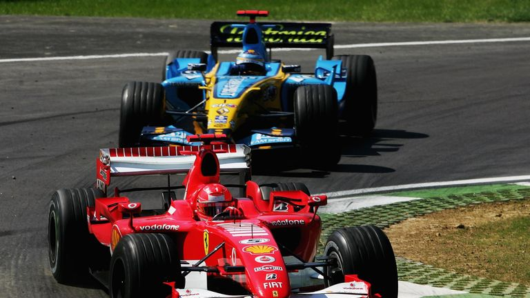 Not only did Schumacher break Senna's all-time pole record in qualifying, but he then went on to masterfully hold off Alonso, a year after their first epic Imola battle, to kickstart his title challenge.