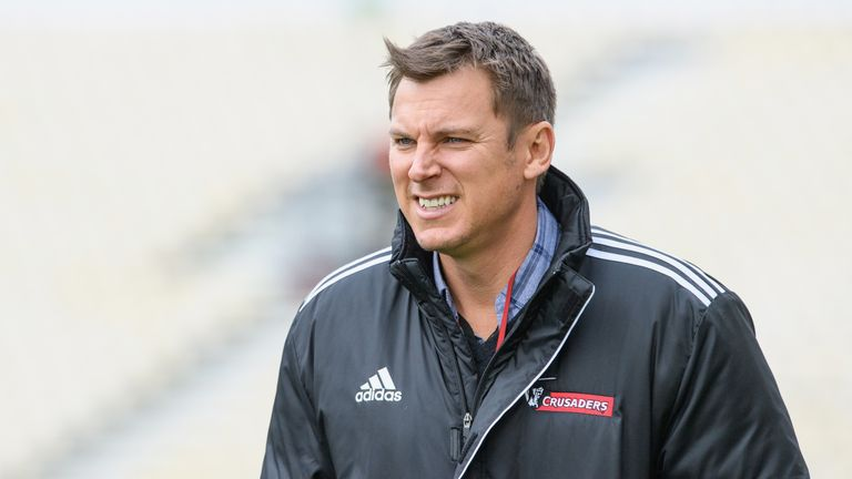 Brad Mooar has been part of the Crusaders' coaching staff which has won back-to-back Super Rugby titles
