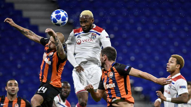Moussa Dembele scored in Lyon's 2-2 draw against Donetsk on October 2