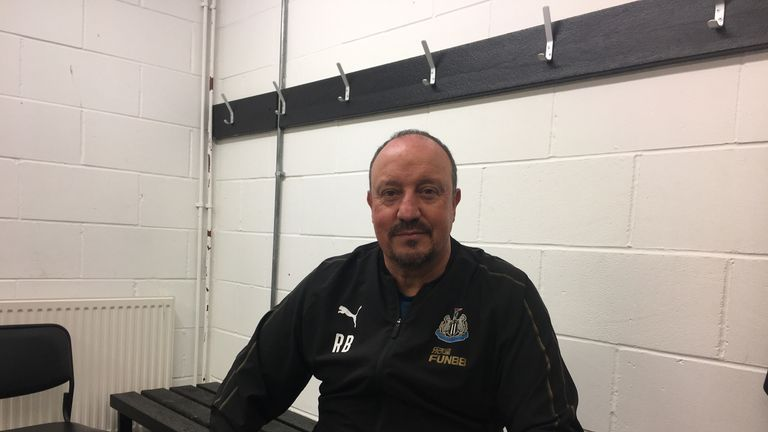 Benitez was speaking in the changing room at the club's training ground