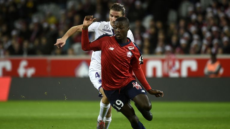 Lille striker Nicolas Pepe has attracted the interest of several top European clubs