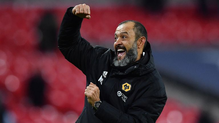 Nuno Espirito Santo's Wolves side are up to ninth in the Premier League