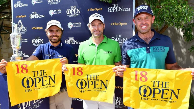 Oliver Wilson, Charl Schwartzel and Romain Langasque all booked places at The 148th Open