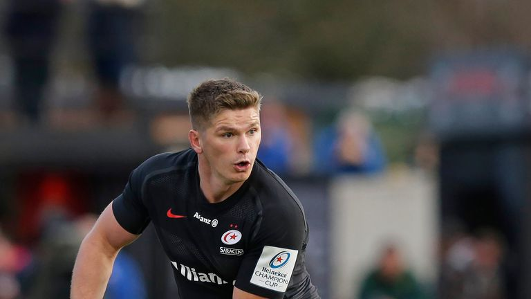 England star Owen Farrell in action for Saracens in the Premiership