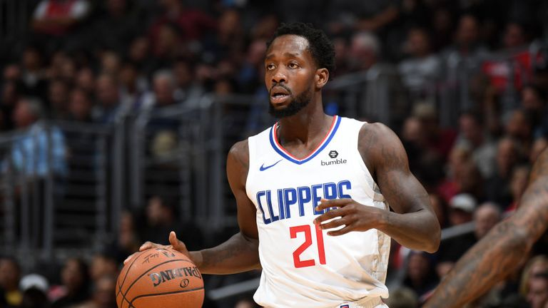 Patrick Beverley of the LA Clippers handles the ball against the Phoenix Suns