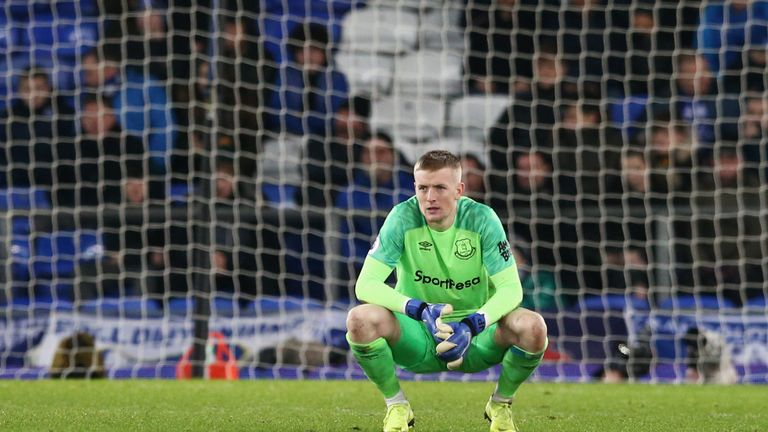 Jordan Pickford has come under some pressure this season