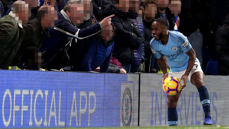 Raheem Sterling was the target of alleged racist abuse from Chelsea  supporters 7ee64846a