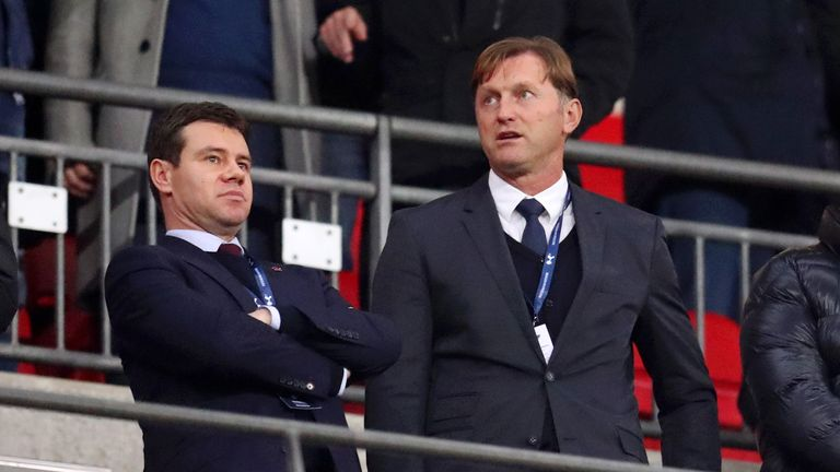 New Southampton manager Ralph Hasenhuttl in stands at Wembley | Football News |