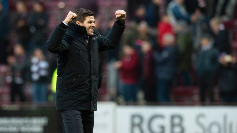 Steven Gerrard's Rangers are top of the Scottish Premiership