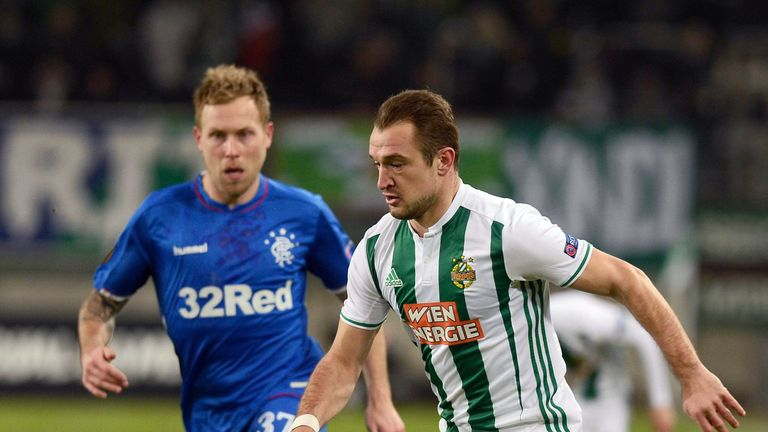 Rapid Vienna 1-0 Rangers: Late goal knocks Rangers out of Europa League