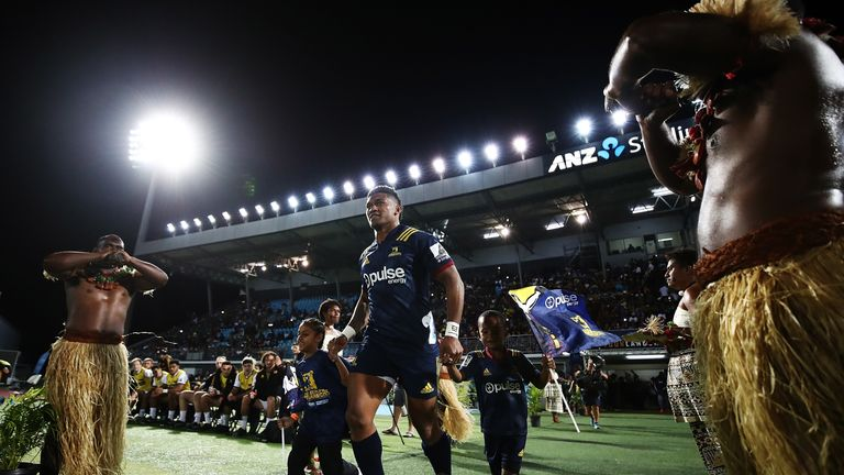 Fiji hosted the Highlanders' game against the Chiefs last June