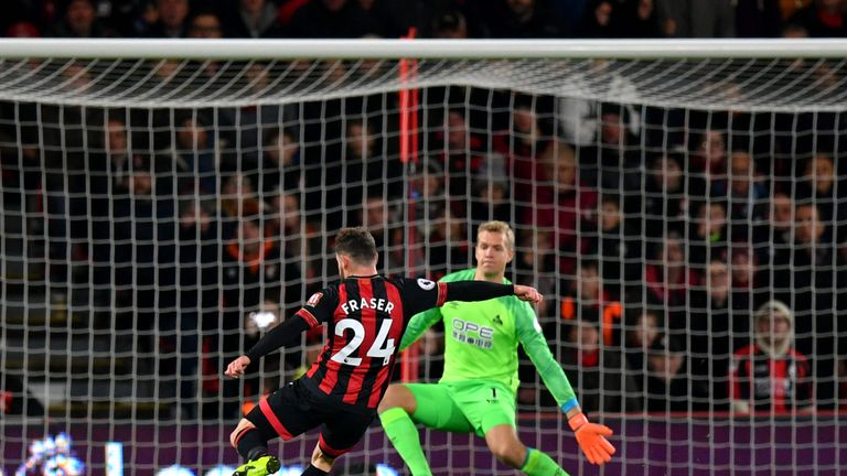 Ryan Fraser scores Bournemouth's second goal