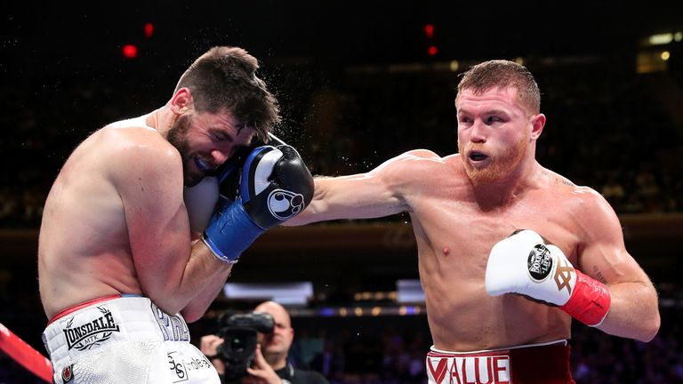 Alvarez needed just three rounds to see off Britain's Rocky Fielding in his last fight