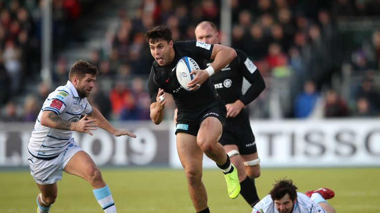 Sean Maitland scored twice as Saracens ran away with things against Cardiff Blues in the second half on Sunday