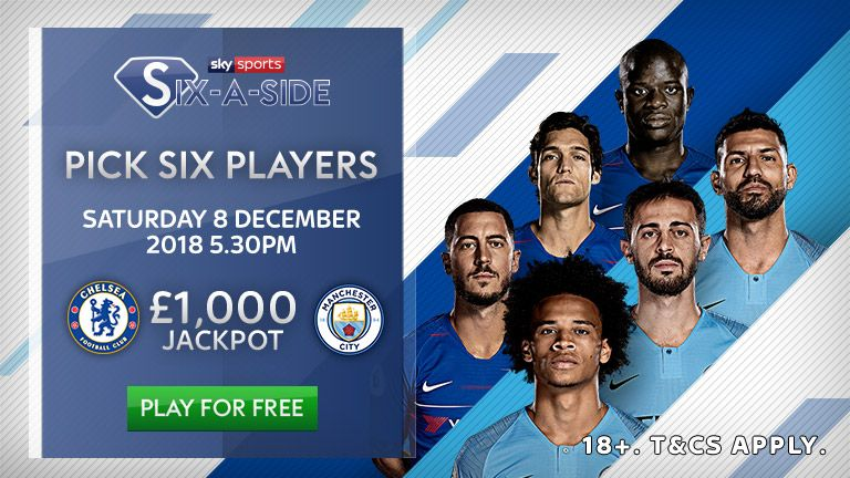 Fantasy Six-a-side Chelsea vs Manchester City