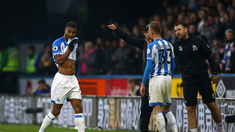 Steve Mounie looks set to stay with Huddersfield