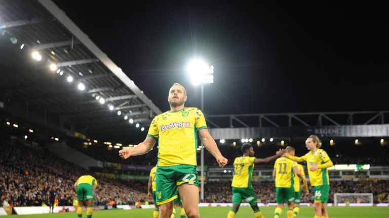 Leaders Norwich are in action against Leeds
