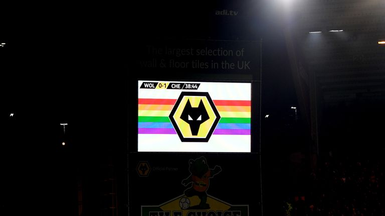 Wolves were another club to mark Rainbow Laces as they beat Chelsea on Wednesday