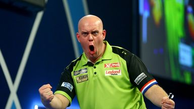 Michael van Gerwen was in ruthless mood as he notched the 18th perfect leg of his career on Saturday