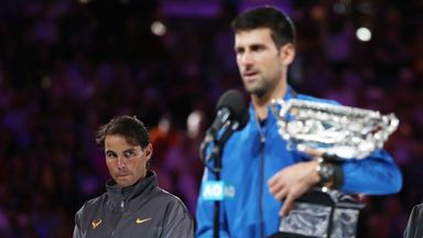 Novak Djokovic is now two short of Rafael Nadal and five behind Roger Federer for Grand Slam titles