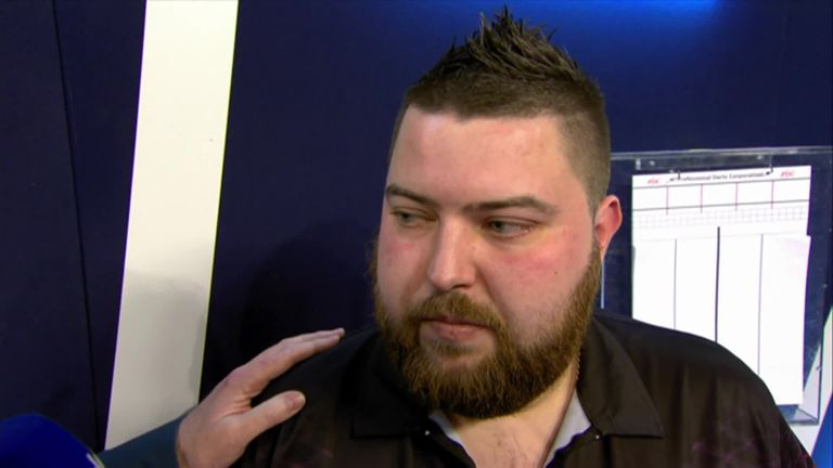 Michael Smith was annoyed with himself after missing crucial chances in his defeat to MVG