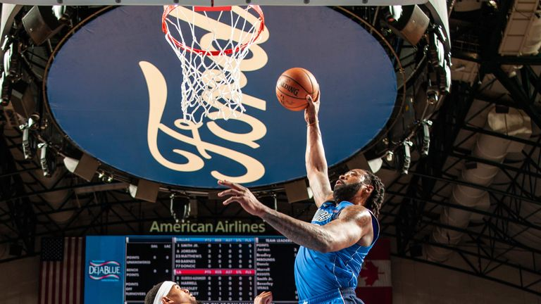 DeAndre Jordan hammers home a fast-break dunk