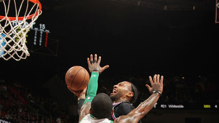 James Johnson throws down a dunk on Kyrie Irving