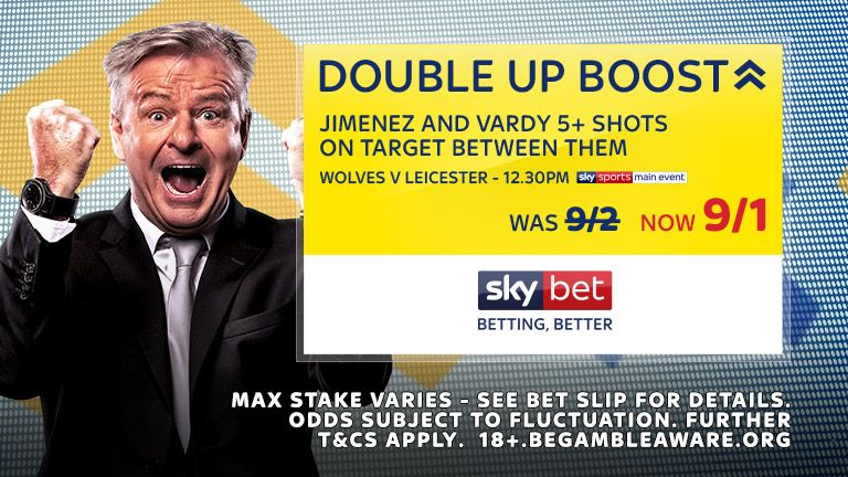 Double Up Boost - Wolves v Leicester