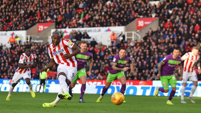 Benik Afobe missed a penalty at the bet365 Stadium