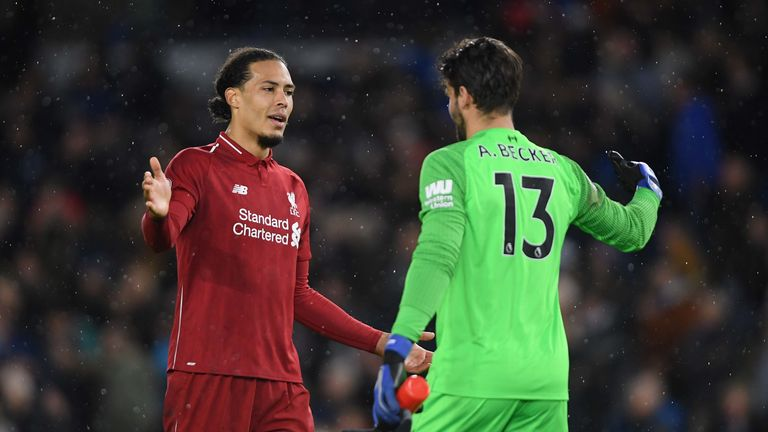 Alisson and Virgil van Dijk have brought stability to Liverpool's defence this season