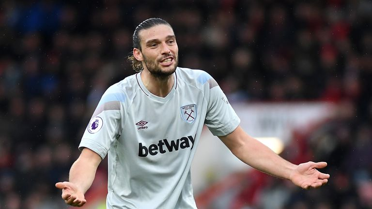 Andy Carroll's future at Wet Ham is uncertain