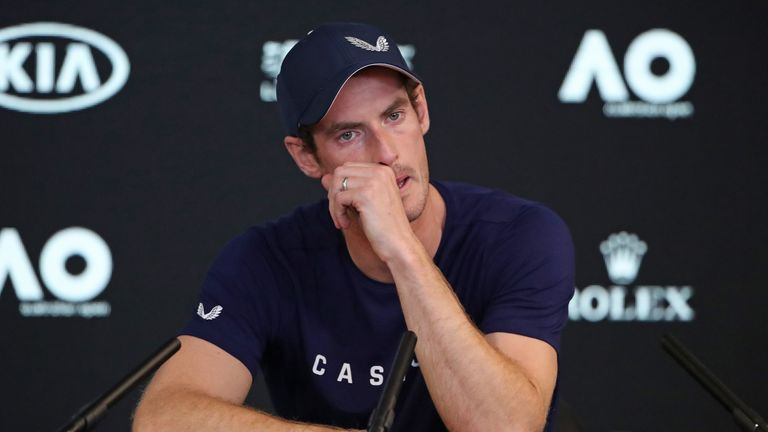 Murray said earlier in the year that the Australian Open could be his final tournament